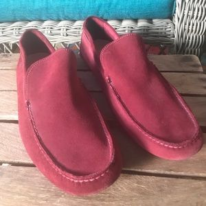 Timberland Burgundy Suede Driving Causal shoe 13W
